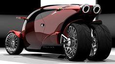 lujosa moto de tres ruedas