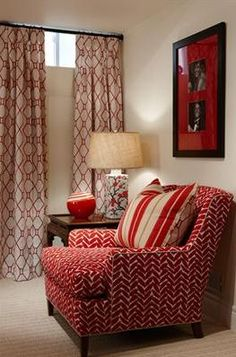 Use full height drapery on small basement windows. This creates the illusion of being in above ground room, especially when the drapes are closed.