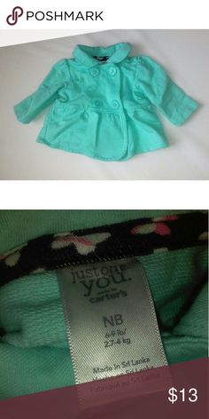 • Mint Newborn Peacoat • Only worn once, absolutely no flaws.  Near mint condition. Speaking of mint,  it still has a vibrant mint color. No discoloration at all.  Suggested weight for coat is 6-9lbs. Jackets & Coats Pea Coats