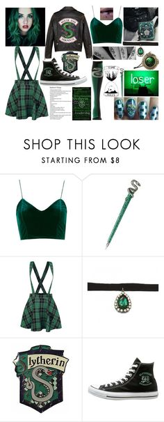 """""""Slytherin"""" by lunaofthemoon ❤ liked on Polyvore featuring Zara Taylor"""