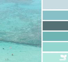 Design Seeds + Color Atlas by Archroma® Scheme Color, Colour Pallette, Colour Schemes, Design Seeds, Aqua, Teal Blue, Turquoise, Colour Board, Color Theory