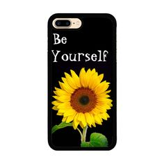 Be Yourself iPhone 7 Plus Rubber Case (5.5 Inch) Black iPhone 7 Plus... ($22) ❤ liked on Polyvore featuring accessories and tech accessories