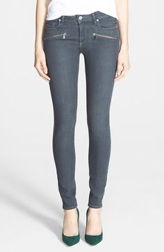 Seeing lots of zipper jeans for this fall. | @nordstrom