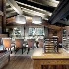 wood with class.....The Petit Chateau, a Luxury Ski Chalet in Courchevel