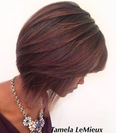 Mahogany Balayage For Brown Bob