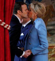 President Macron en echtgenote.