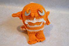 Orange and White Crocheted Amigurumi Creature by naomisjoy on Etsy, $20.00