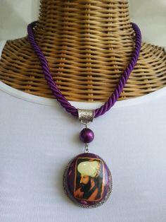 #handmade #jewelry #necklace #purple