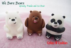 We bare bears. Ice Bear We Bare Bears, We Bear, Rock Crafts, Clay Crafts, Wilton Candy Melts, Clay Bear, Biscuit, We Bare Bears Wallpapers, Diy Accessories