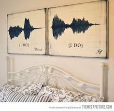 The sound waves of the moment they said 'I do'... A way to make YOUR own music  even if ya can't sing!