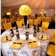 Yellow and black #wedding