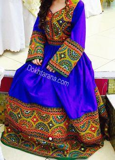 #blue #afghani #dress                                                                                                                                                      More