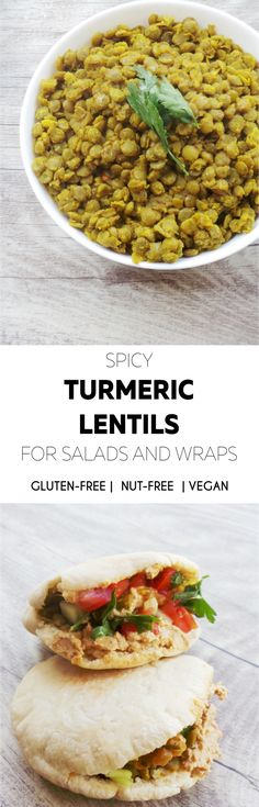Spicy turmeric lentils by Beauty Bites: great for wraps and salads. Anti-inflammatory and detoxifying. Also gluten-free, vegan, nut- and dairy-free.