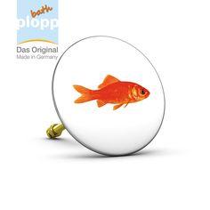 """bath plopp, Stöpsel für die Badewanne """"Goldfisch/Goldfish""""   #Bad #plopp #bath #bathroom #Badezimmer #Geschenkidee #Badewanne"""