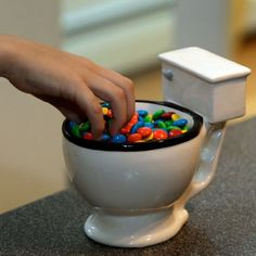When drinking from the bowl is a good thing    Watching someone take a drink from our toilet mug is guaranteed to crack a smile. This popular mug makes a great gift for any age, and also makes a great candy or ice cream dish.      	great for the potty-mouth, coffee drinker, or chronic farter  	holds 12 oz. of your favorite beverage  	perfect for the home or office at any age  	high quality, easy-to-clean ceramic construction        | Shop this product here: spreesy.com/DeeGees/913 | Shop all…