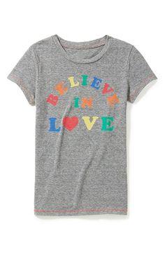 Peek Believe in Love Tee (Toddler Girls, Little Girls & Big Girls) available at #Nordstrom