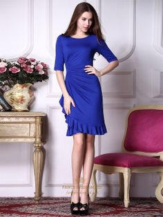 Royal Blue Prom Dresses With Sleeves,Royal Blue Bodycon Dress,Royal Blue Formal Dress With Sleeves