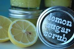 Lemon sugar scrub!