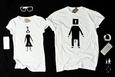 """T-shirts for couple """"LOCK & KEY"""