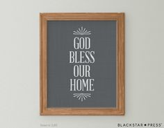 Hey, I found this really awesome Etsy listing at https://www.etsy.com/listing/208477324/god-bless-our-home-quote-grey-and-white