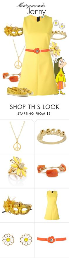 """""""Masquerade: Jenny"""" by jivy44 ❤ liked on Polyvore featuring Mminimal, Guide London, Sterling Essentials, Kate Spade, Bourbon and Boweties, Masquerade, MSGM, Monsoon and MICHAEL Michael Kors"""