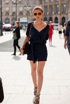 Love black rompers & ankle strap heels <3
