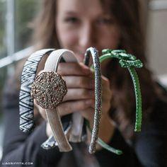 DIY Ribbon Headbands | Lia Griffith