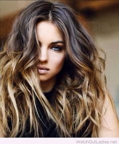 Caramel blonde ombre hair color