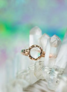 Moonstone has been used in jewelry for thousands of years. Bario Neal's Moonstone Dais engagement ring is new to the collection.