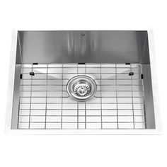 VIGO 23-in x 20-in Single-Basin Stainless Steel Undermount 1-Hole Commercial/Residential Kitchen Sink