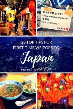 33 great tips for first-time visitors to Japan from travel writers, bloggers and photographers.