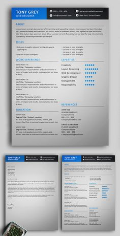 Free Elegant Resume Template with Cover Letter