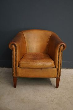 Leather Club Chairs, Couch Furniture, Chairs For Sale, Tub Chair, Accent Chairs, Vintage, Home Decor, Palmas, Upholstered Chairs