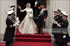 Wedding of Prince Frederik of Denmark and Mary Donaldson : After the ceremony in Copenhagen, Denmark on May 14, 2004.