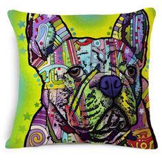 Colorful Dog Throw Pillows
