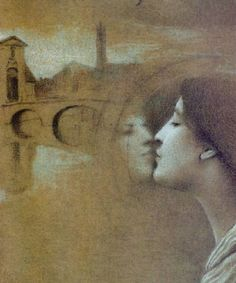 Fernand Khnopff - My Heart Cries for the Past (1889)