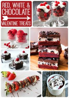 20 Red, White, & Chocolate #Valentine Treats