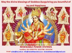 #Renewablepowersystemsdehi wishes May the divine blessings of Goddess Durga bring you bountiful of Joy and Happiness