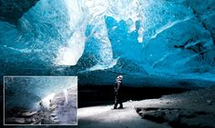 Inside Iceland's ice caves.Stunning photos of Europe's biggest glacier #DailyMail