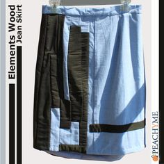 PeachyMe  Elements Wood Jean Skirt by peachymedesigns on Etsy, $40.00