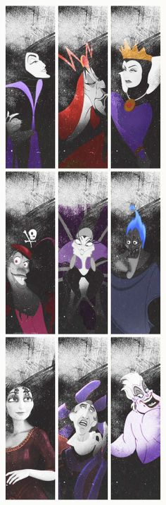 Favorite #5: The villains. ALL OF THEM. (; The only one missing on here is Scar.