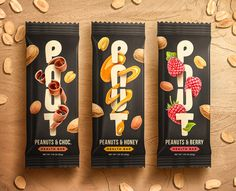 Branding and Package Design for Nut Bars: logo design Fruit Packaging, Cookie Packaging, Food Packaging Design, Packaging Design Inspiration, Logo Design, Label Design, Package Design, Biscuits Packaging, Health Bar