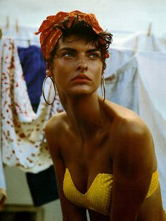 Linda Evangelista, Vogue Italy, 1989                                                                                                                                                                                 More