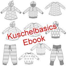 Kuschelbascics für Babies und Kleinkinder.  Die Kuschelbasics sind auch als   gedrucktes Papier-Schnittmuster   auf einem A0-Bogen erhältlich.  Kleine Kinder mögen es bequem mit viel Bewegungsfreiheit, dazu soll die...