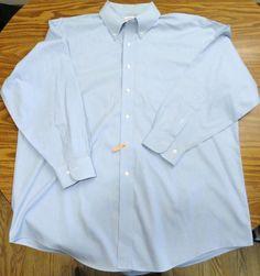 Brooks Brothers LS Small Blue Checks Dress Shirt Sz 17 1/2-2/3 Button Down Colla #BrooksBrothers