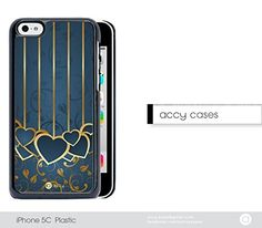 Blue Gold Stripes Heart Floral iPhone 5 5s Hard Snap on Plastic Cell Phone Cover. Artwork printed directly onto a metal part on the back of the case via latest Sublimation Technology. THIS IS NOT A DECAL OR SKIN. Mobile Phone Providers: T-Mobile, AT&T, Verizon, Sprint and Unlocked. Buttons, ports, front and rear camera, and flash complete access. High quality hard snap on phone case.