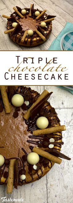 When double chocolate can't hit the spot, this cheesecake is what you need. Save the recipe on our app! http://link.tastemade.com/HE7m/H1wHe4m2mA