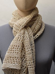 Wabi-Sabi Scarf Knit Pattern, $, Lace wt yarn