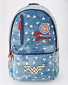 c5f78eec15130 Denim Patch Wonder Woman Backpack - DC Comics Cool Backpacks, Denim  Backpack, Fashion Backpack