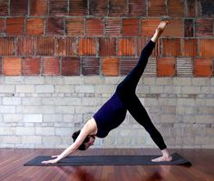 Prenatal yoga sequence for tight hips and hamstrings.